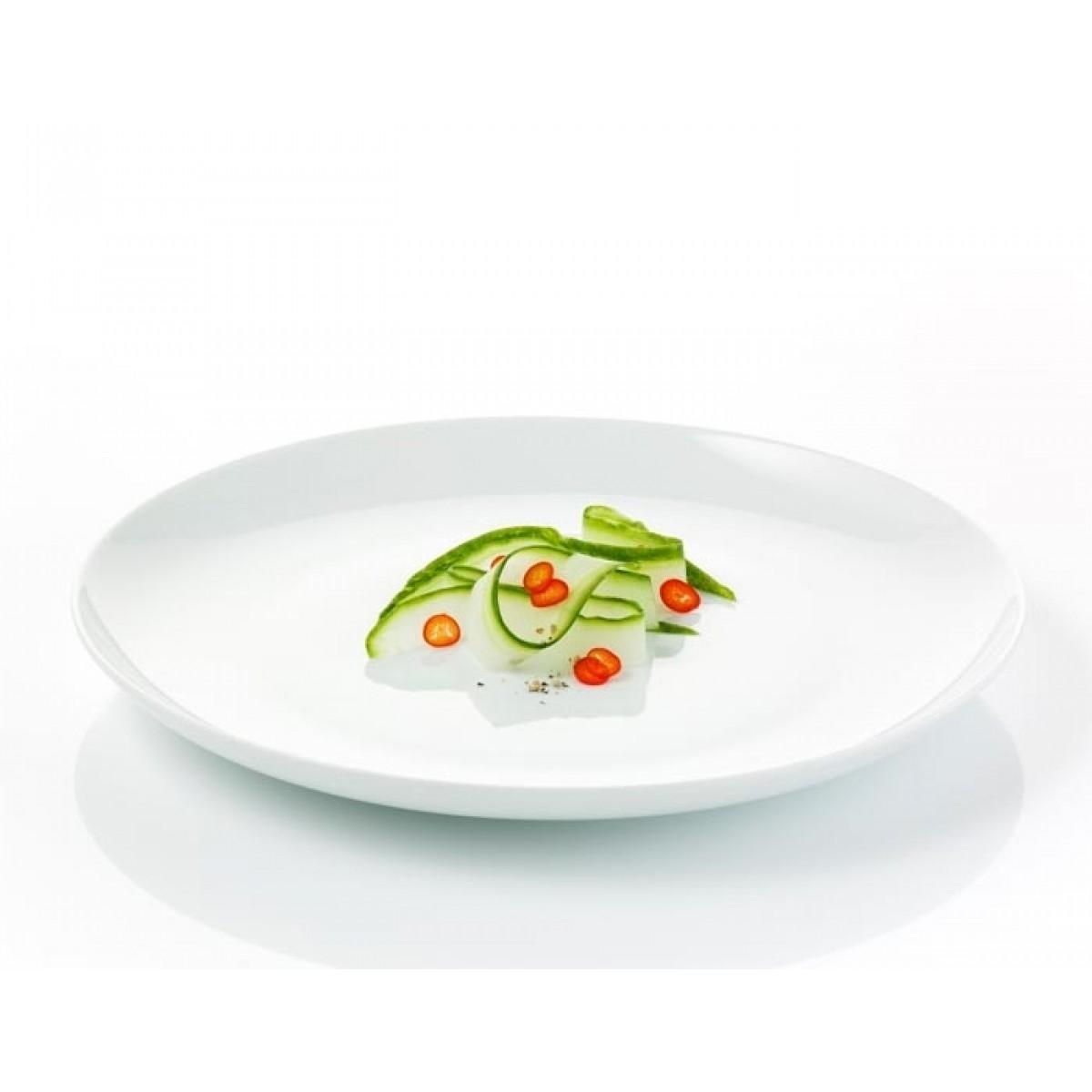 AIDA Atelier hvid middagstallerken 4 stk. 25 cm.