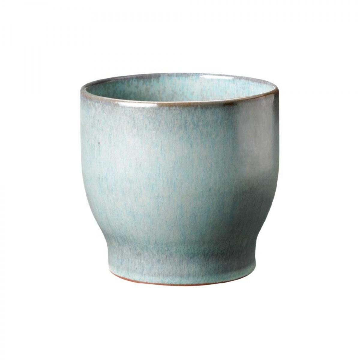 KNABSTRUP Keramik Urtepotteskjuler, soft mint, Ø14,5 cm