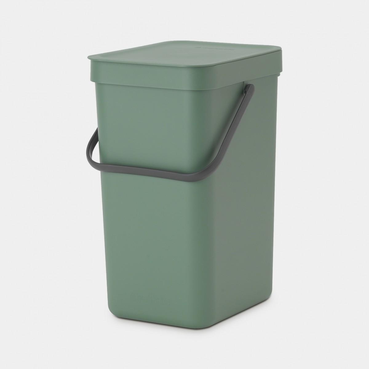 BRABANTIA Affaldsspand m/ låg - Affaldssortering 12 ltr - grøn