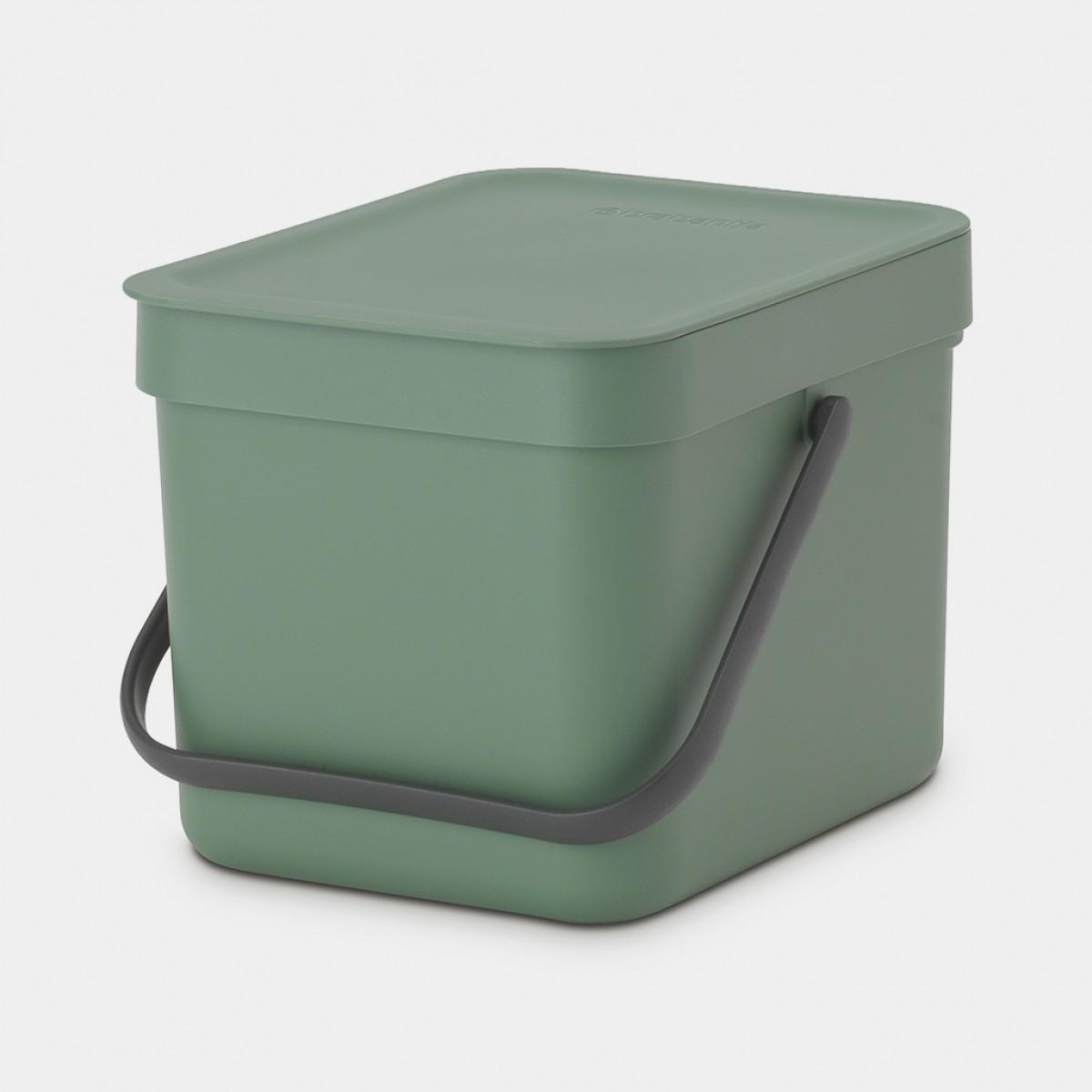 BRABANTIA Affaldsspand m/ låg - affaldssortering.. 6 ltr. grøn