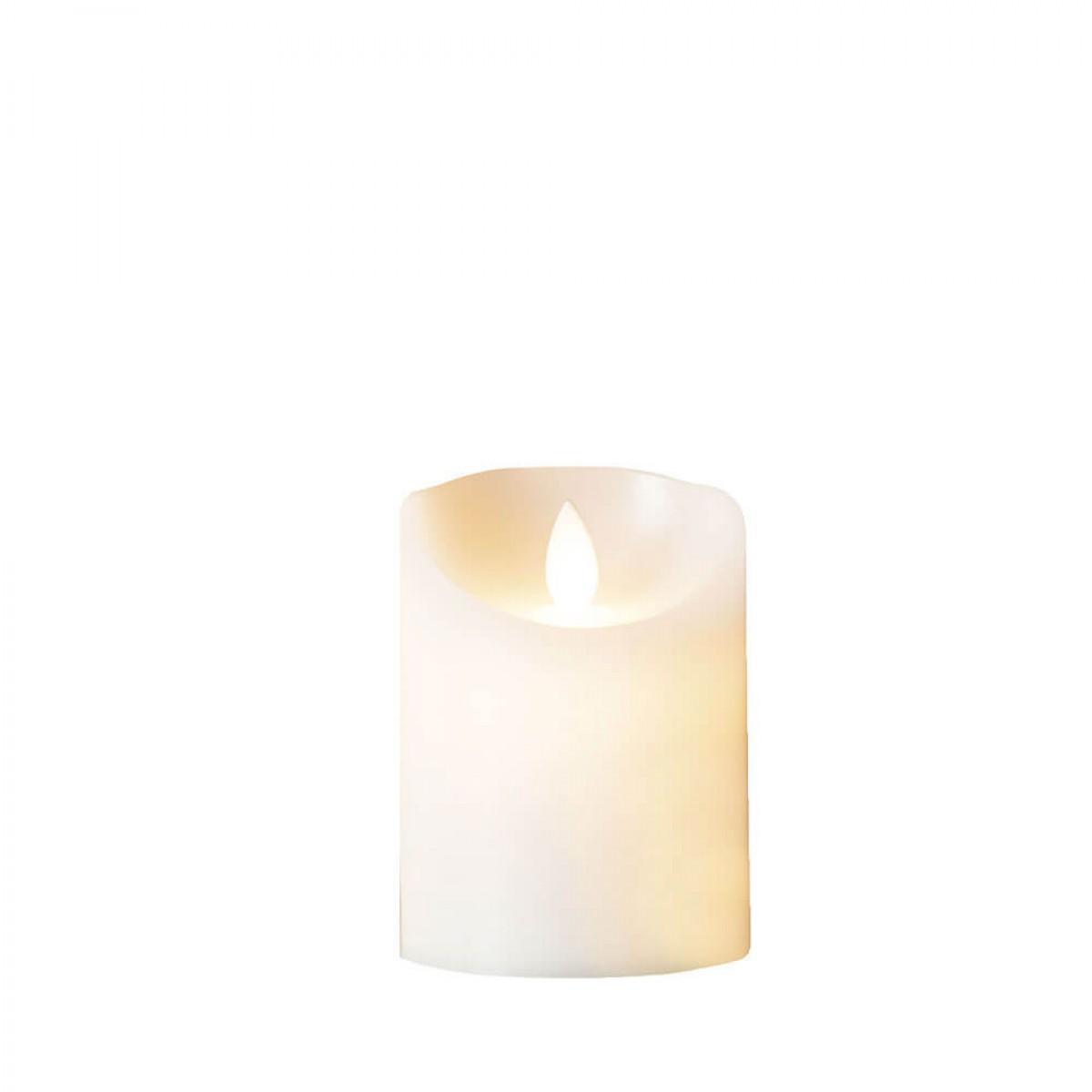 DA´CORE Bloklys m/bevægelig flamme og chip ø 7,5 cm h. 10 cm