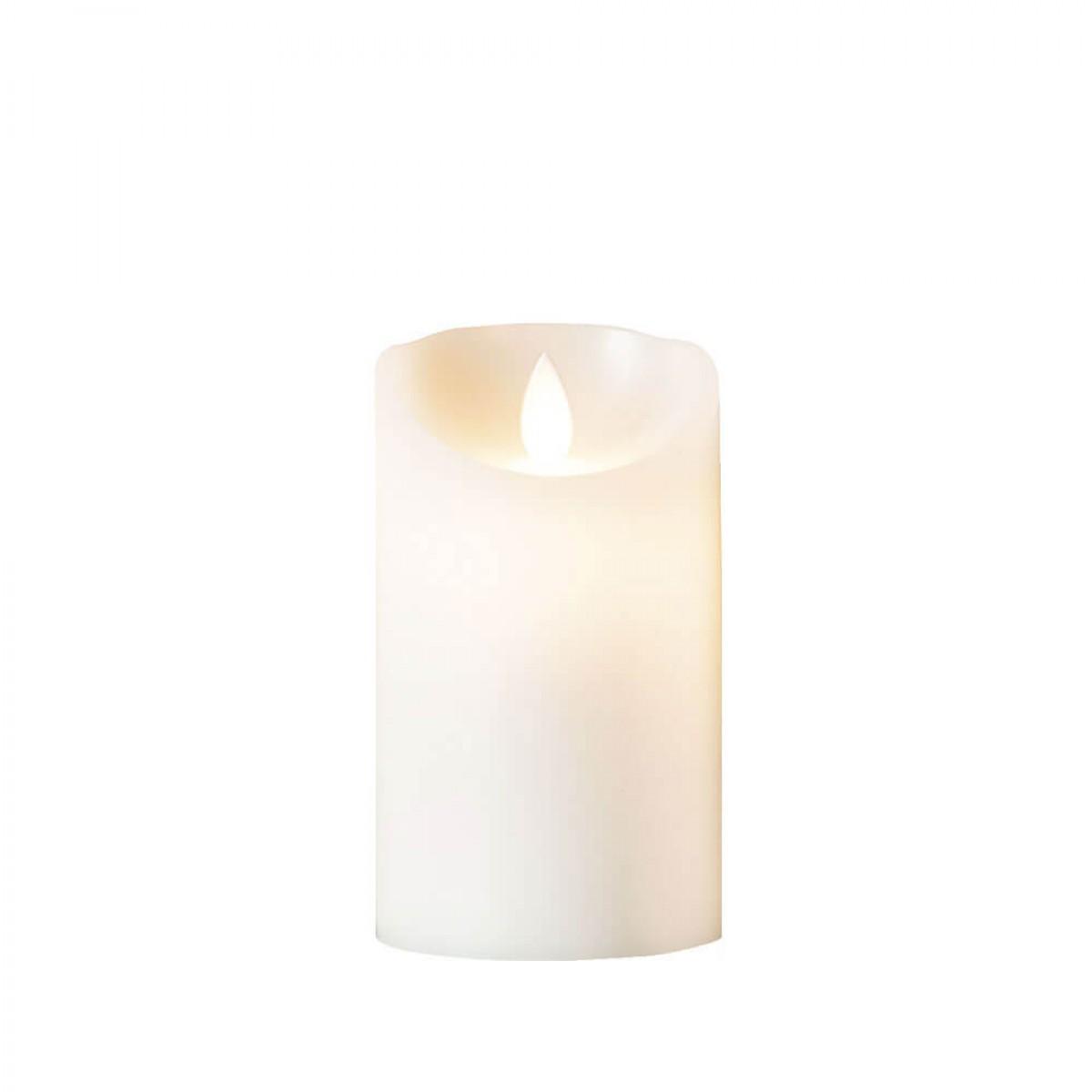 DA´CORE Bloklys m/bevægelig flamme og chip ø7,5 cm h.12,5 cm