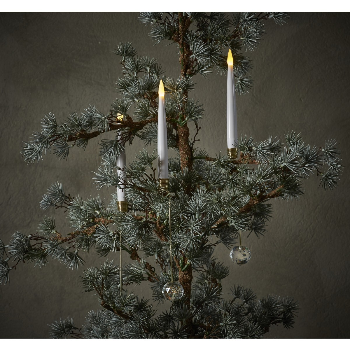 DA´CORE Juletræslys trådløs m/lysholdere 10 stk