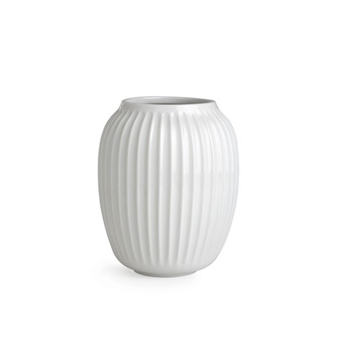 KÄHLER Hammershøi vase hvid 20 cm.