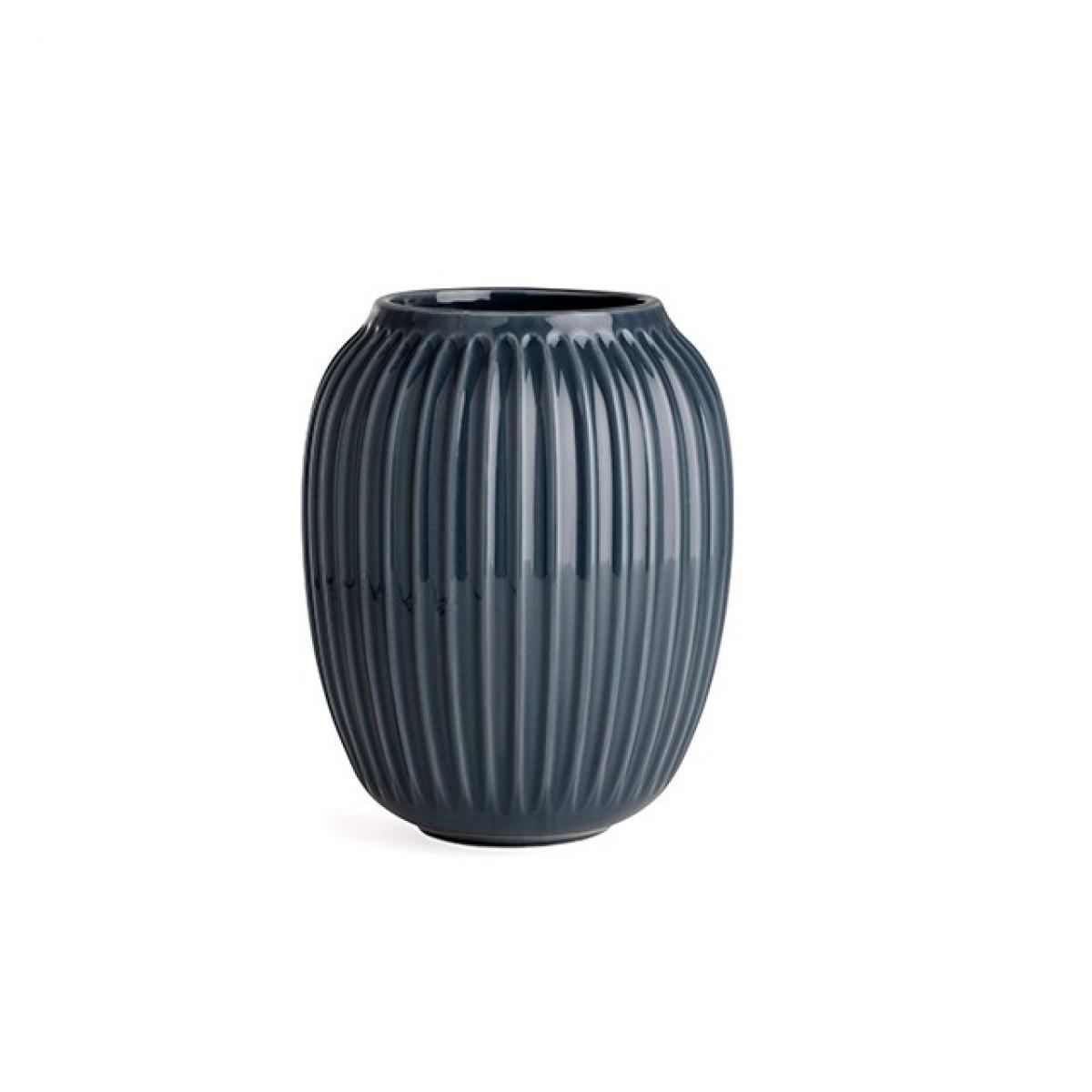 KÄHLER Hammershøi vase antracit grå 20 cm.