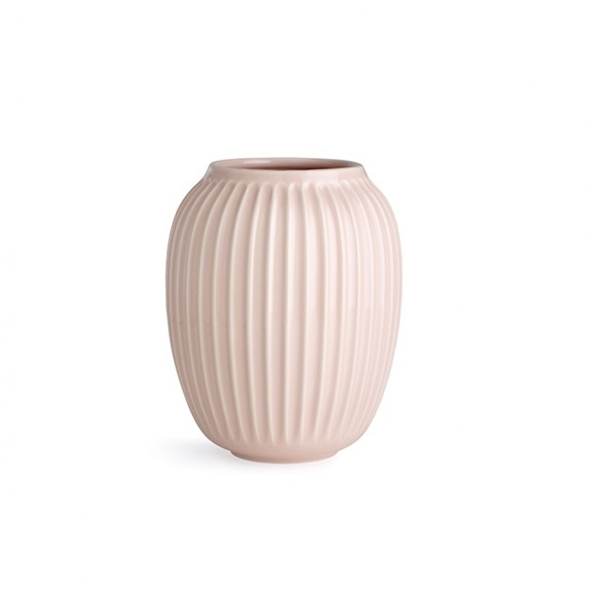 KÄHLER Hammershøi vase rosa 20 cm.