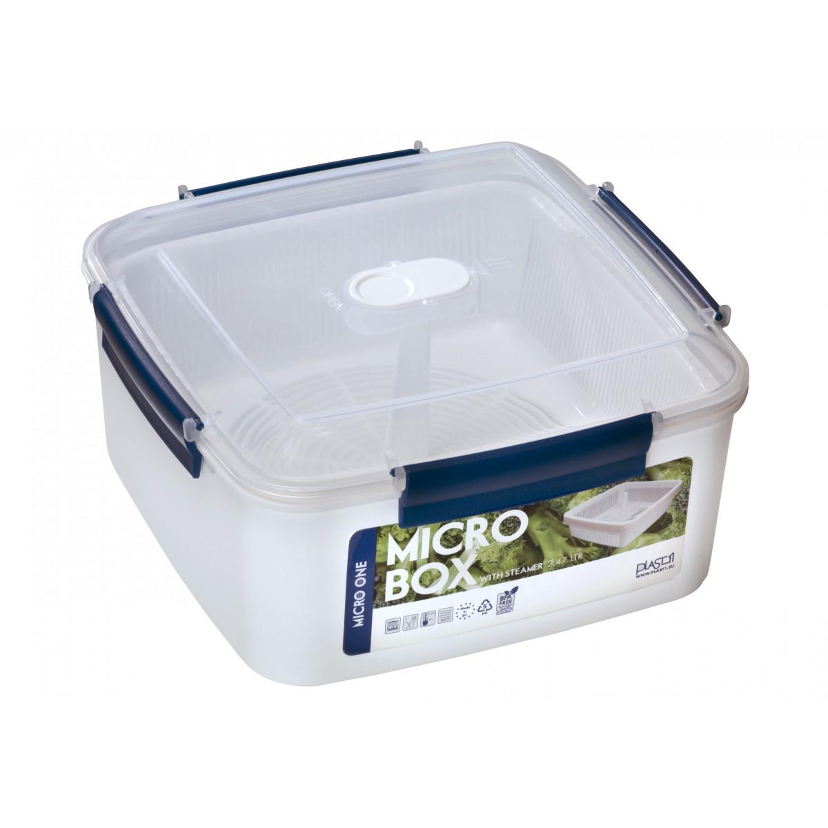 PLAST1 Mikro-box firkantet 2,47 L m/si