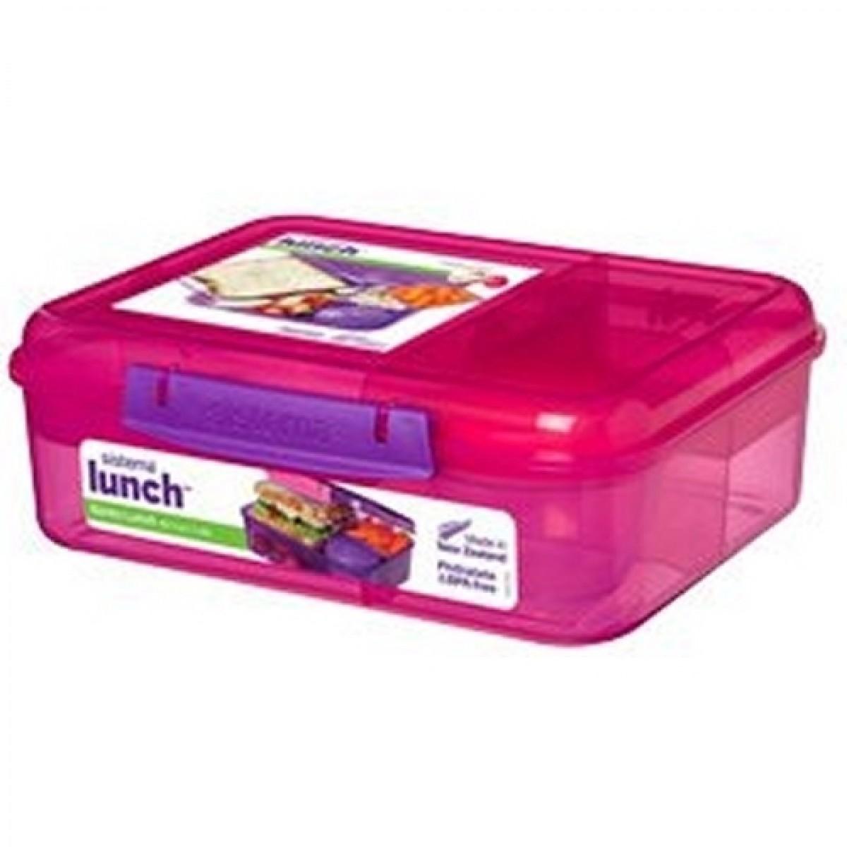 SISTEMA Madkasse bento box lunch pink 1,65 ltr
