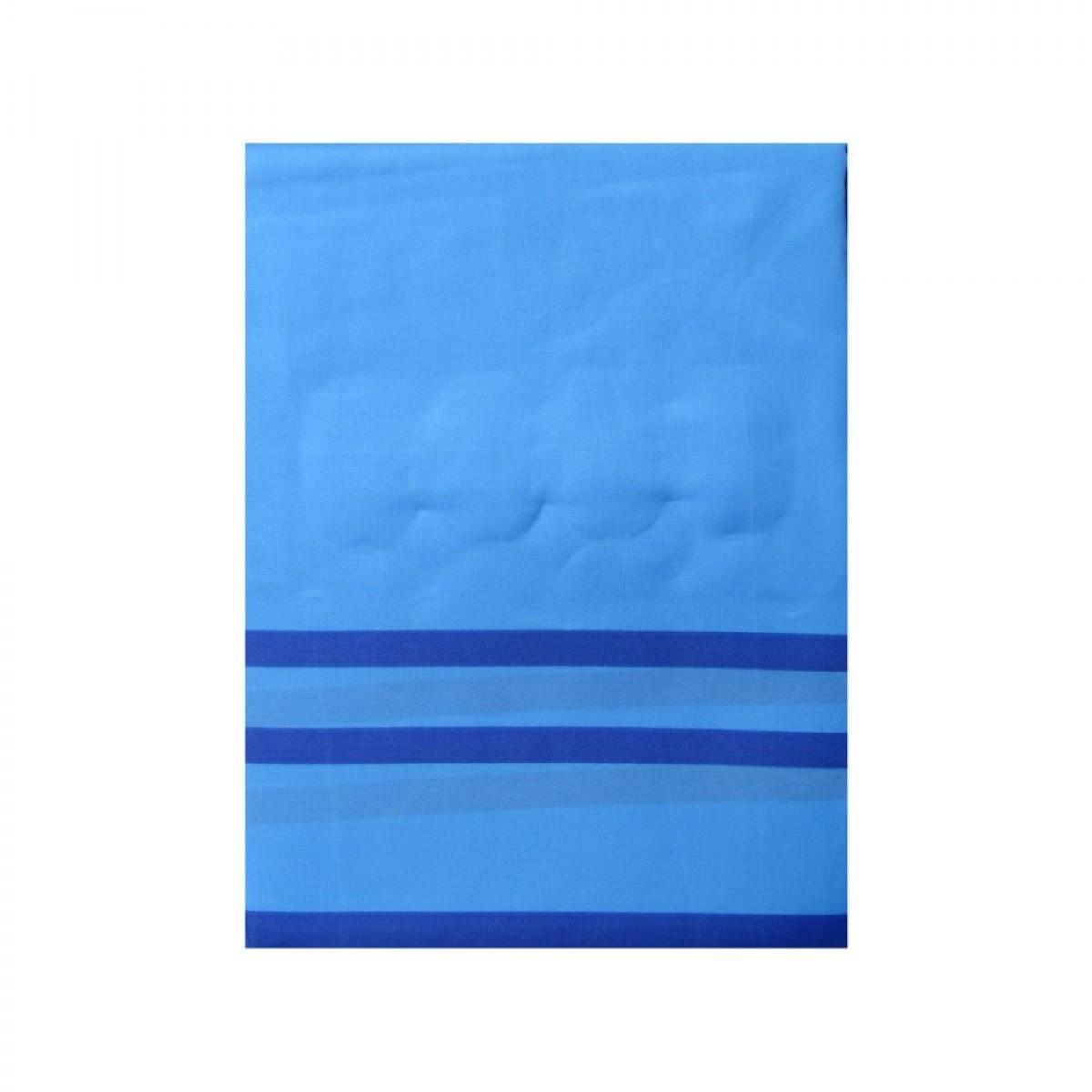 CONZEPT Badeforhæng 180 x 200 cm Blå m/ striber