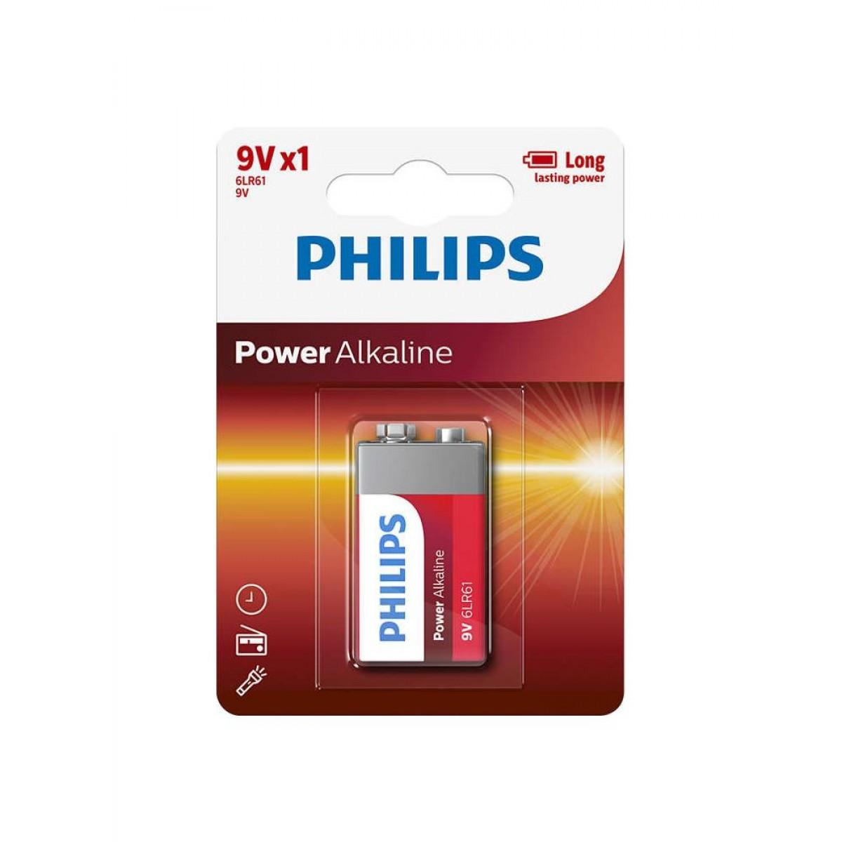 PHILIPS Batteri 9V alkaline