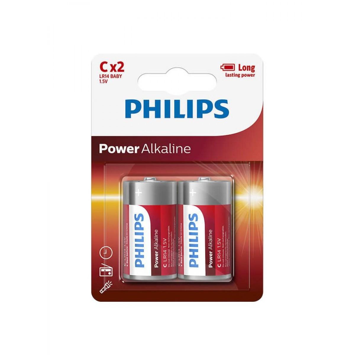 "PHILIPS Batteri ""C"" 2 stk"