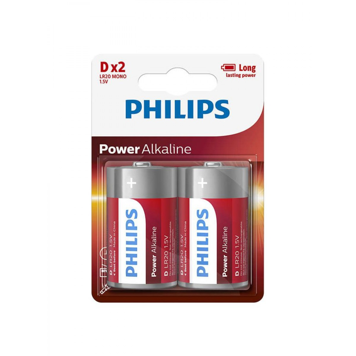 "PHILIPS Batteri ""D"" 2 stk"