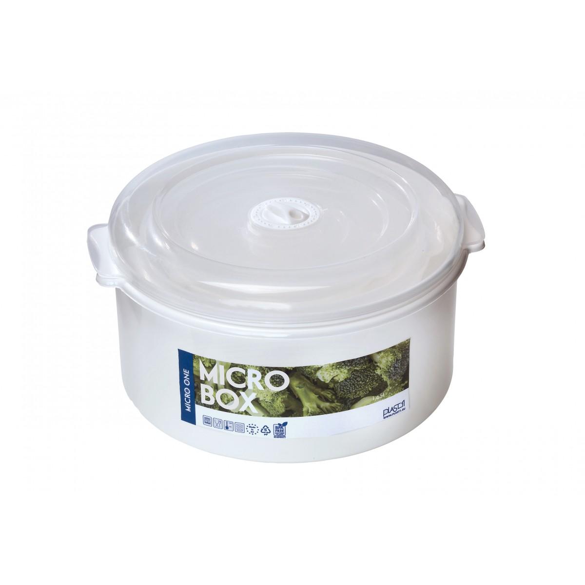 PLAST1 Mikro-box rund 1,65 L