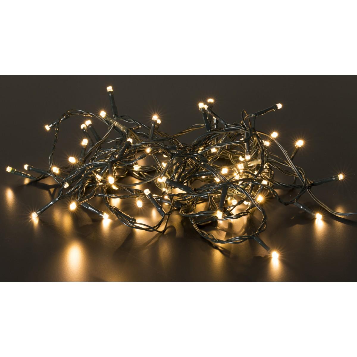 CONZEPT lyskæde udendørs varmhvid 80 LED