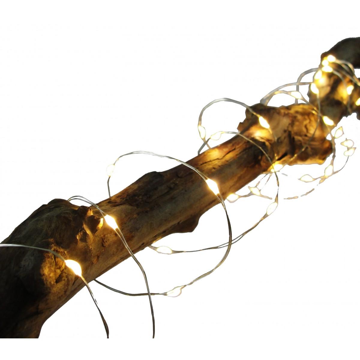 CONZEPT Wirelyskæde 40 led varmhvid t/batterier