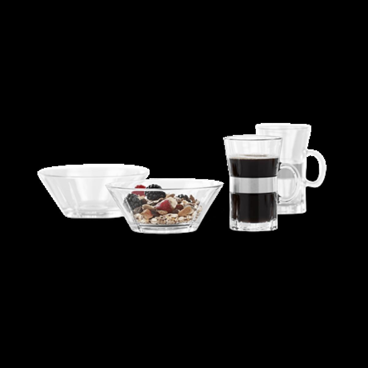 ROSENDAHL Grand Cru morgenmadssæt hot drink & skål 2 pers.