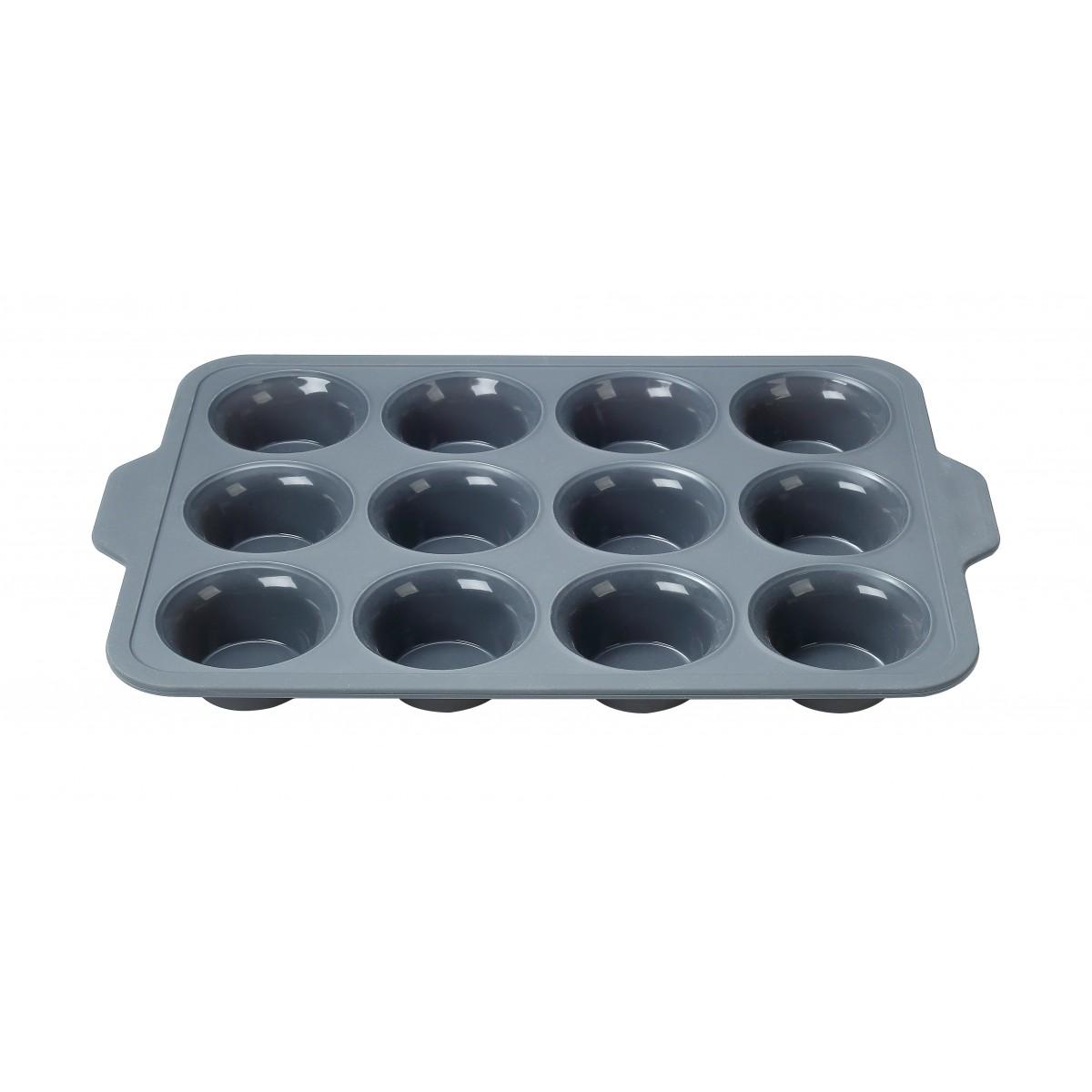 CONZEPT Muffinsform t/12 stk i silikone 39,8 x 26,6 x 4,3 cm