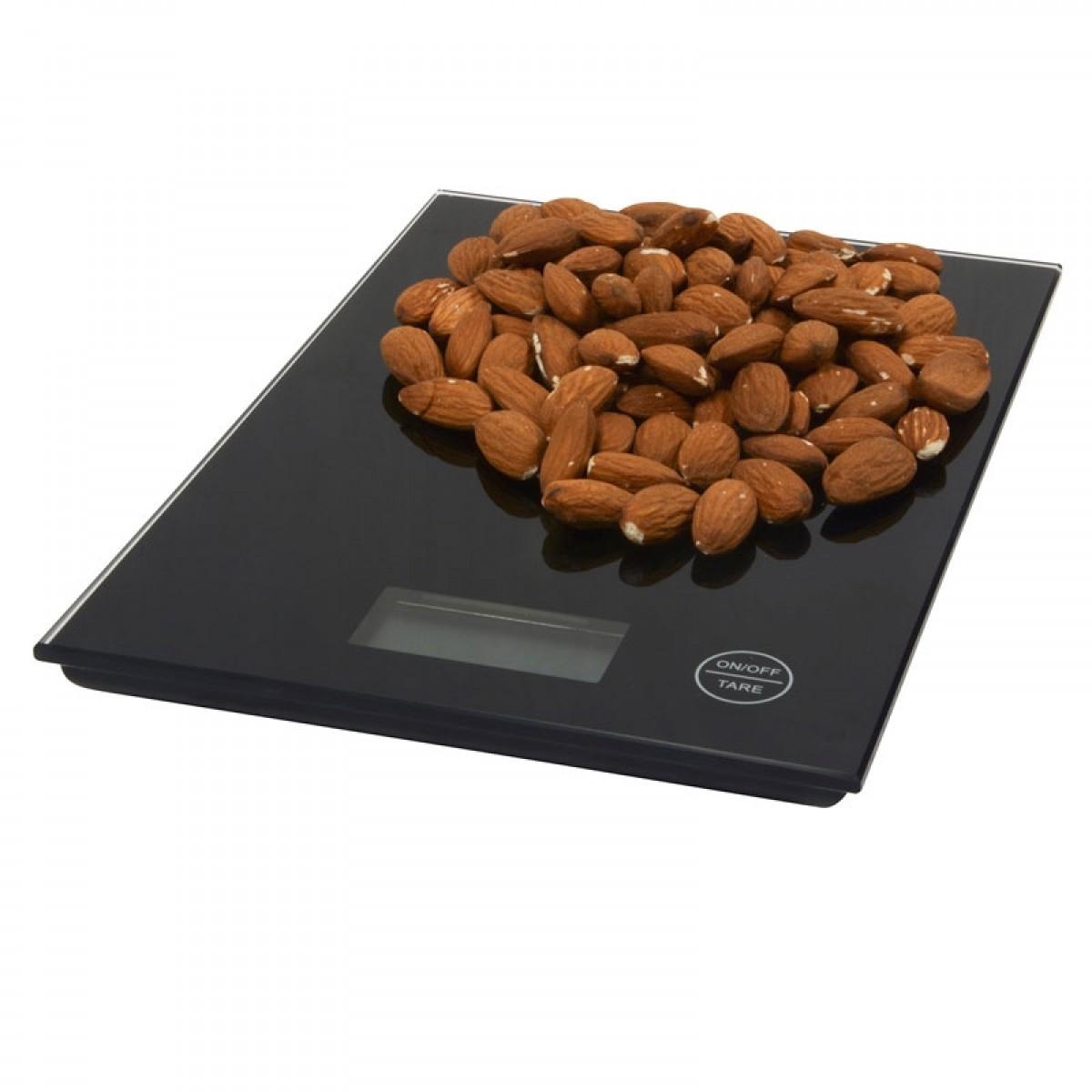 CONZEPT Køkkenvægt 5 kg sort glas