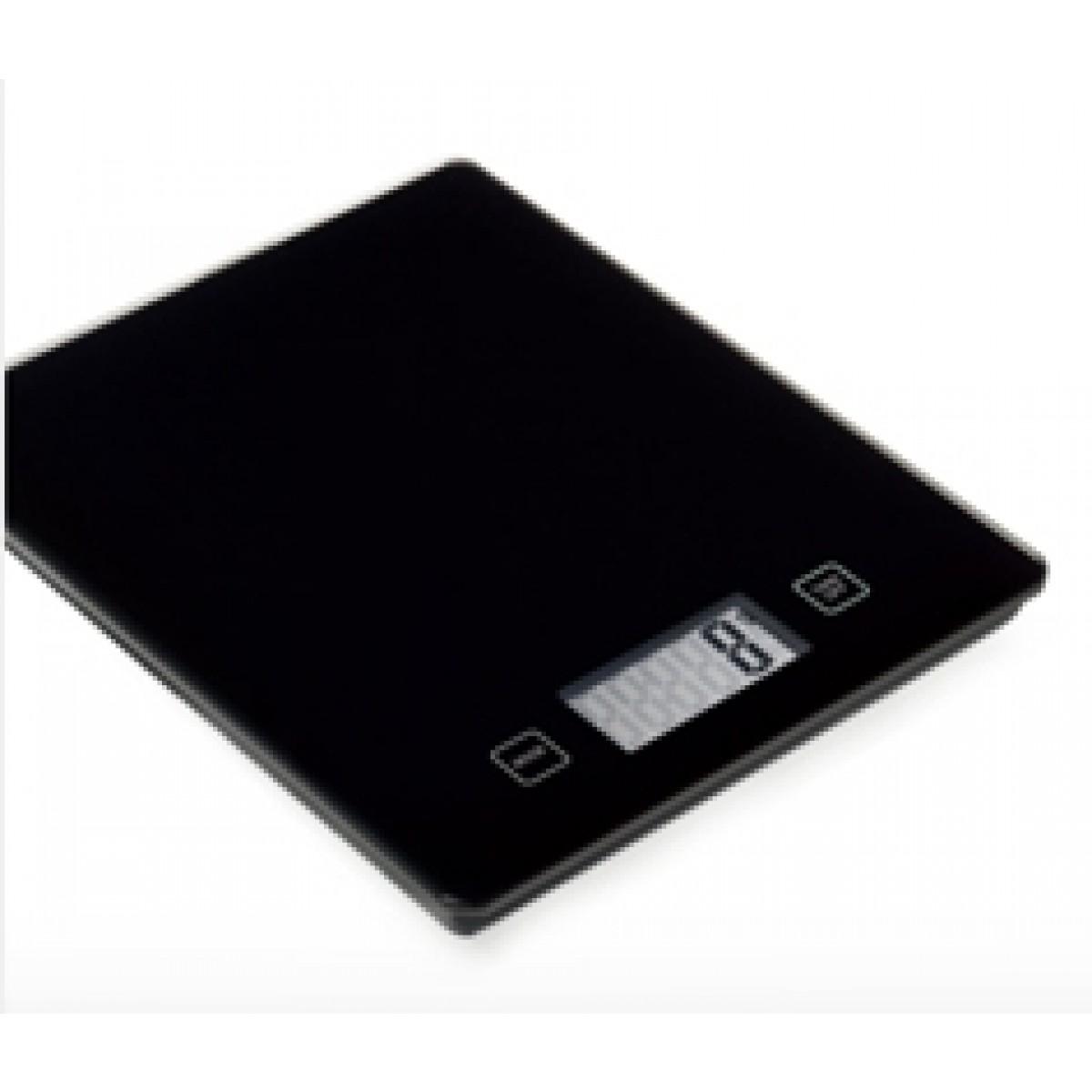 CONZEPT Køkkenvægt sort glas - 15 kg