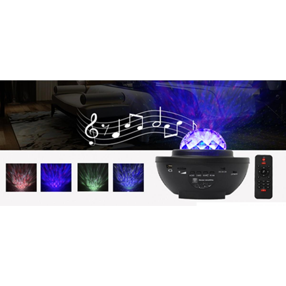 CONZEPT Stjerne projektorlampe m/ bluetooth