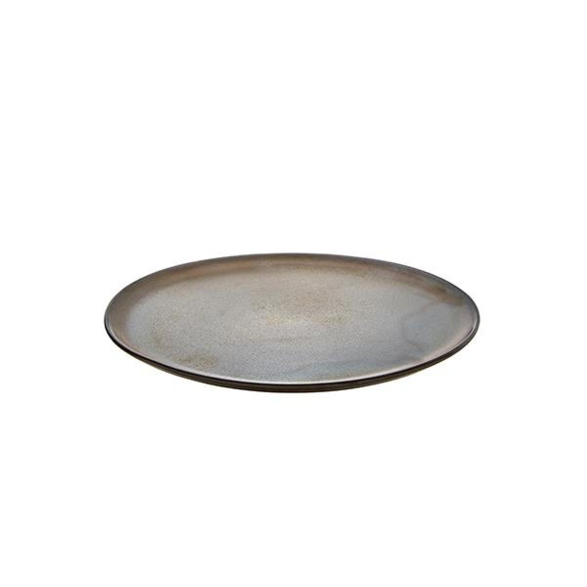 AIDA Raw middagstallerken 28 cm - metallic brown