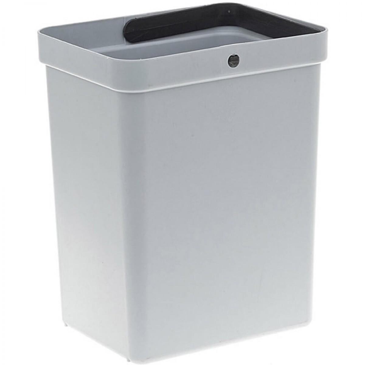 Affaldspand i grå plast - 10 ltr