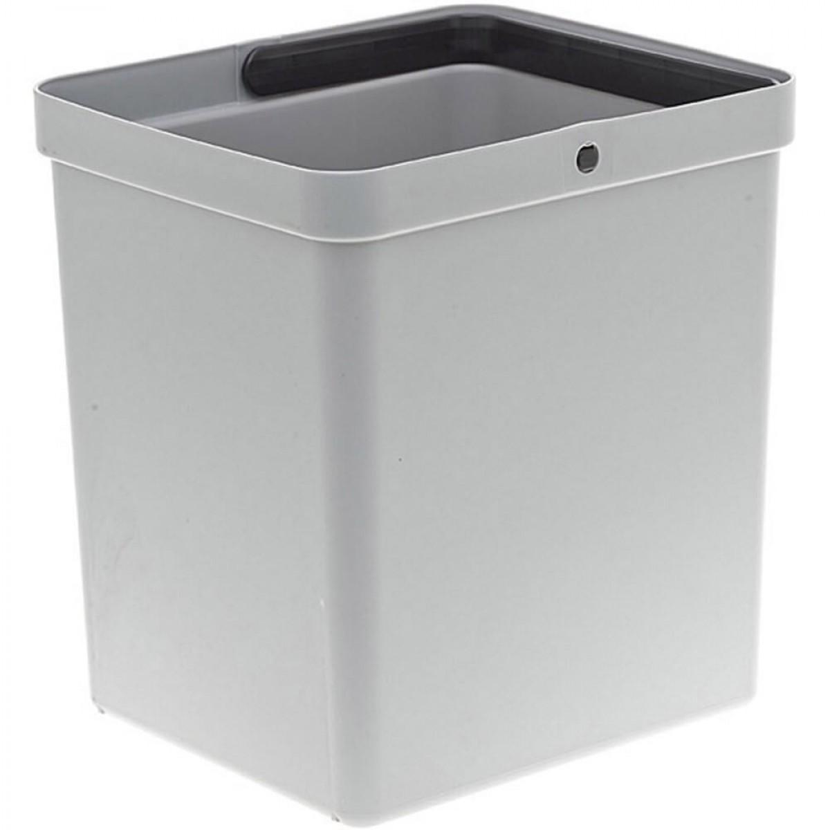 Affaldspand i grå plast - 15 ltr