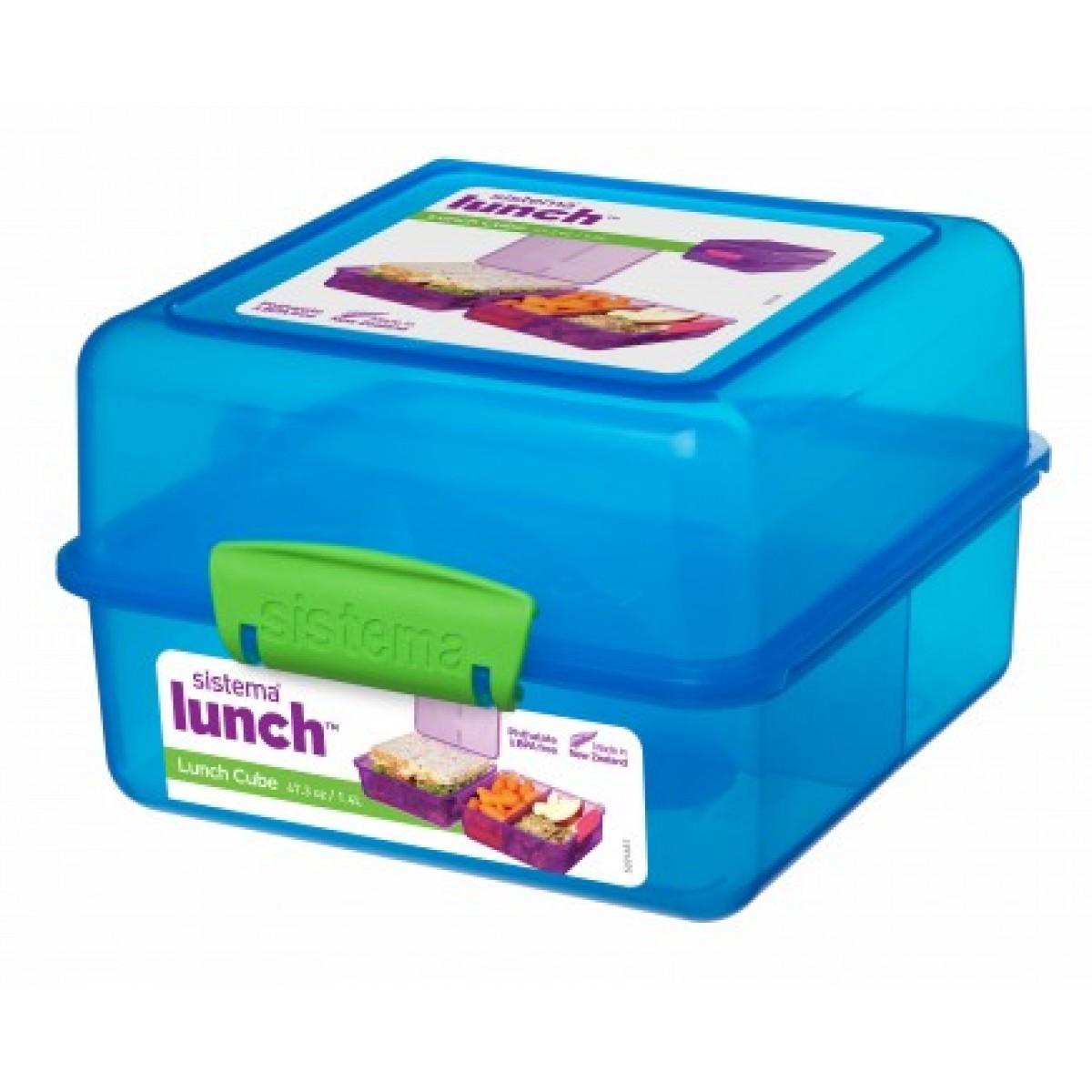 SISTEMA Madkasse lunch cube blå 1,4 ltr