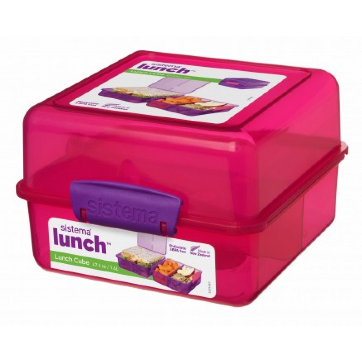 SISTEMA Madkasse lunch cube pink 1,4 ltr
