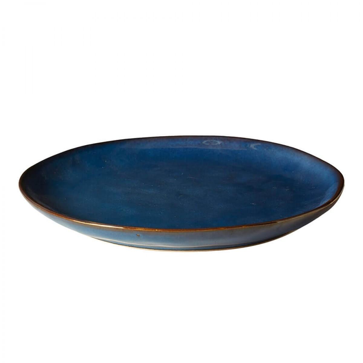 DACORE Tallerken stentøj 28,5 cm blå