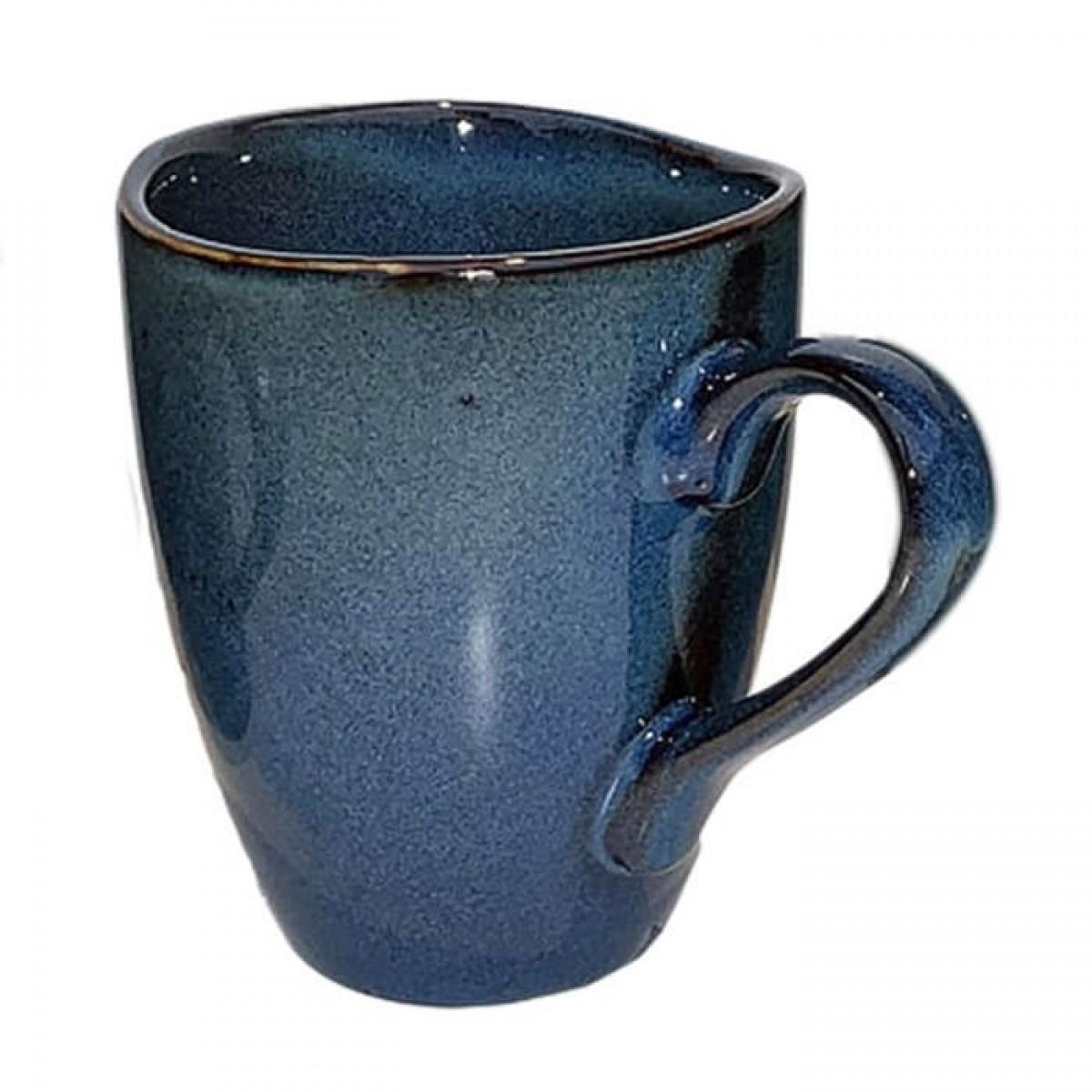 DACORE krus med hank stentøj 8 x 10 cm blå
