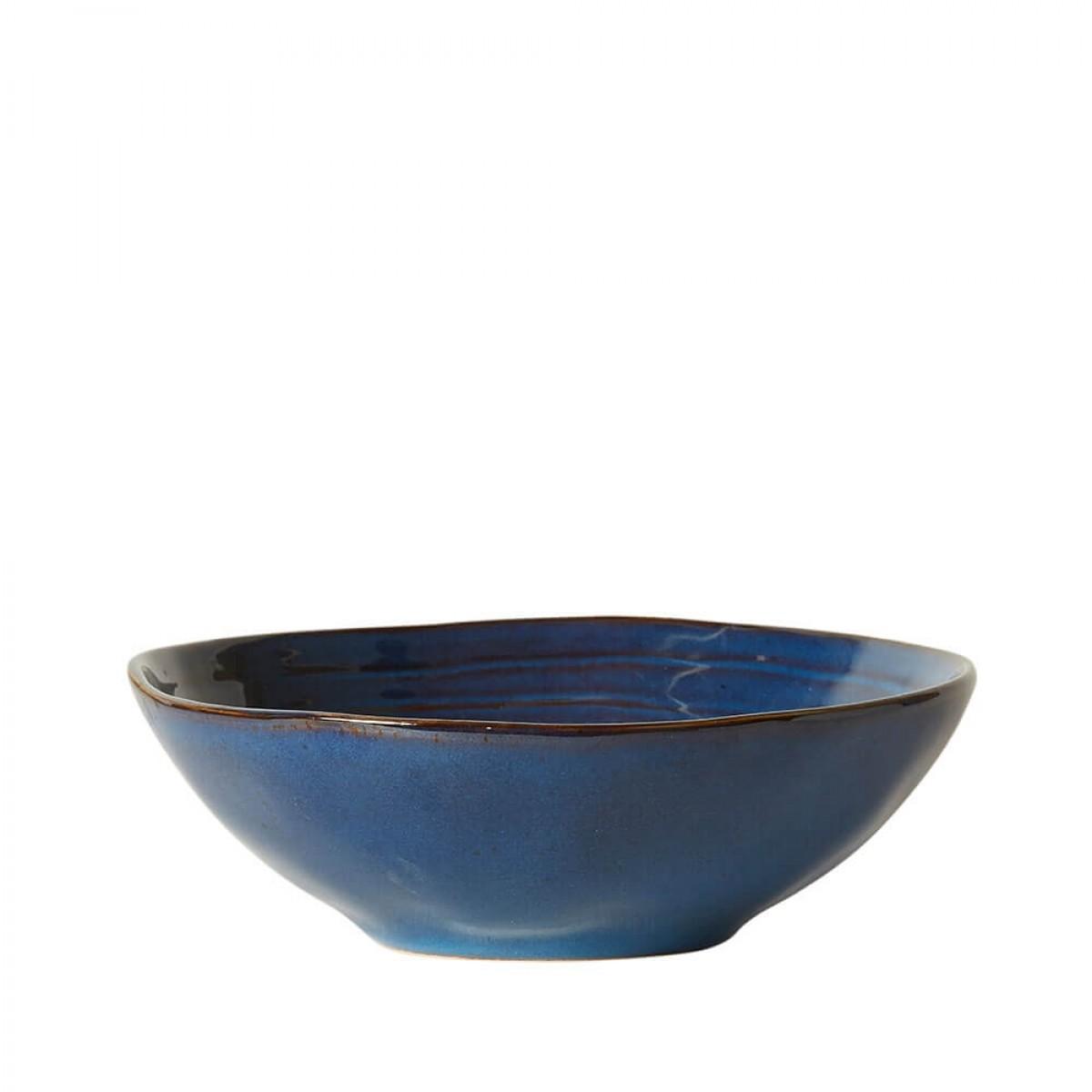DACORE Skål stentøj 19x6 cm blå