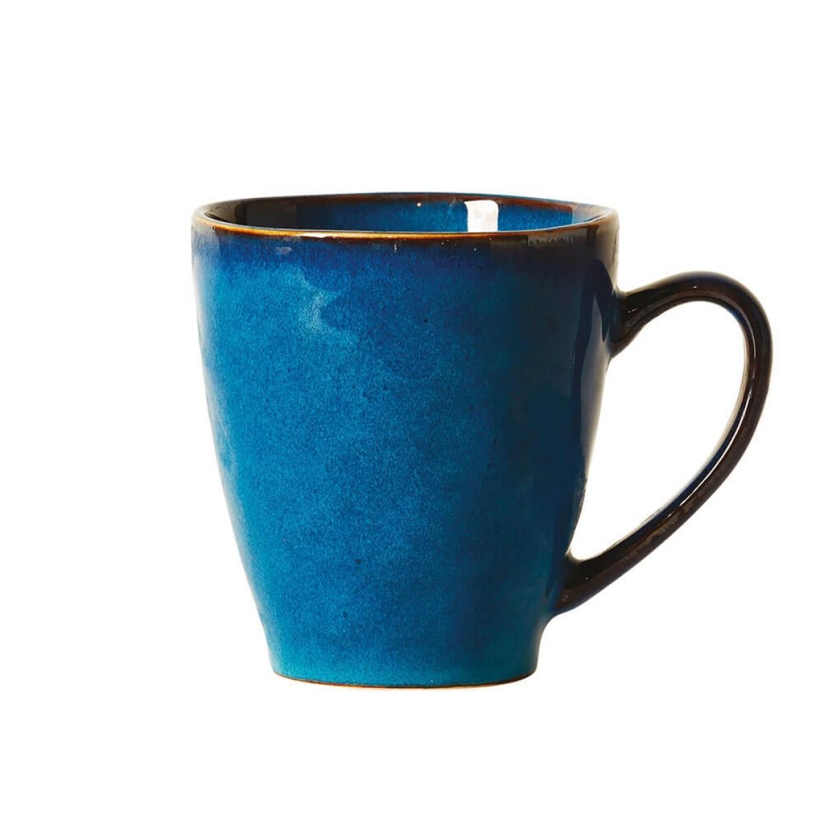DACORE Krus med hank stentøj 10,5 x 11,5 cm blå