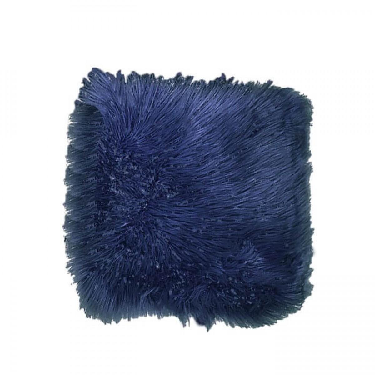 DACORE Sædehynde imiteret lammeskind blå 40 x 40 cm.