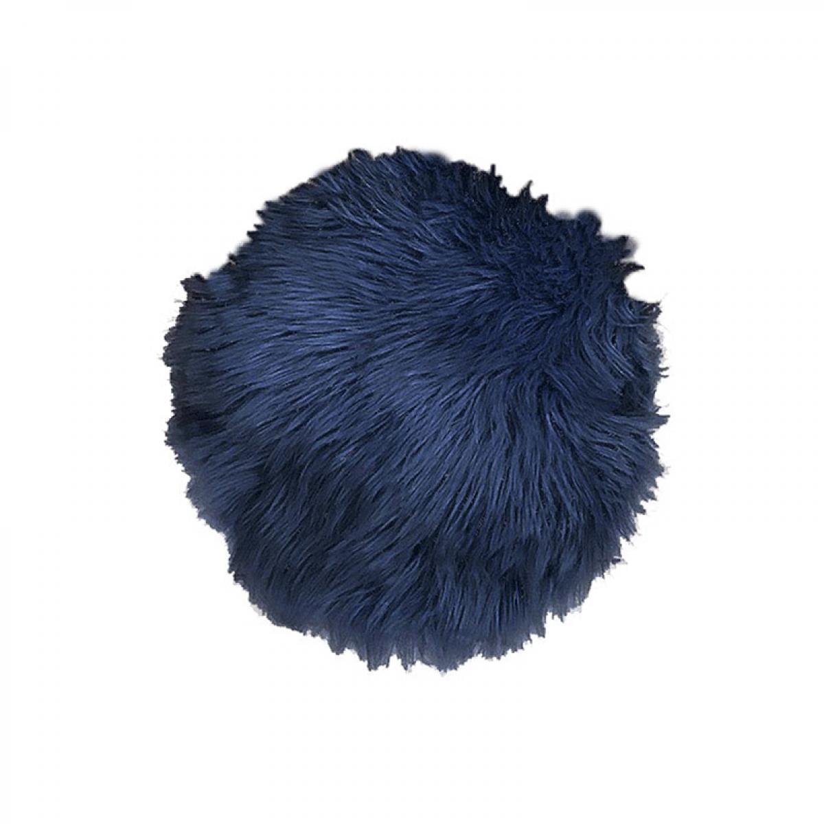 DACORE Sædehynde imiteret lammeskind blå ø. 37 cm