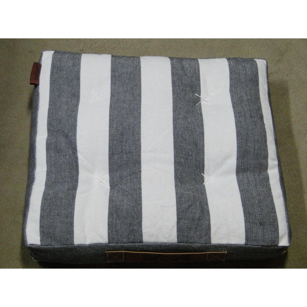 DACORE Boxhynde m/læder håndtag grå stribet