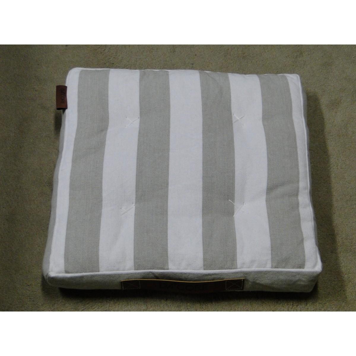 DACORE Boxhynde m/læder håntag sand stribet