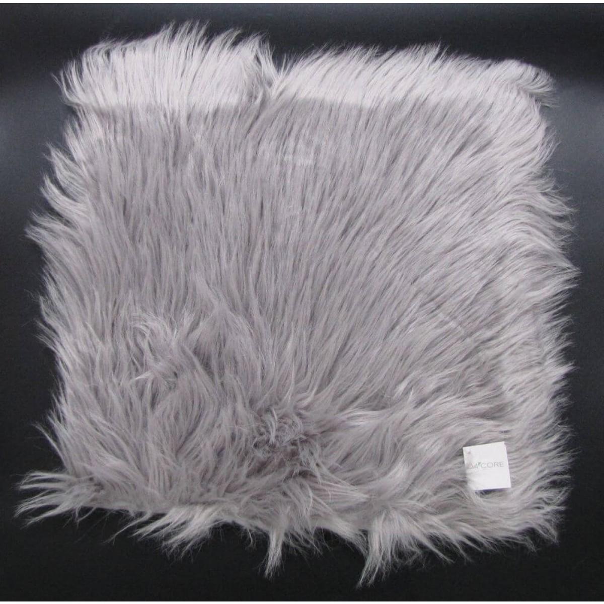 DACORE Sædehynde imiteret lammeskind cool grå 40 x 40 cm.