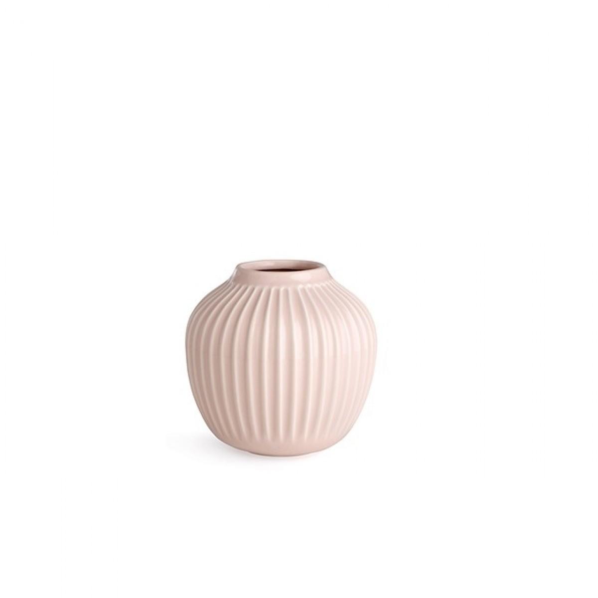 KÄHLER Hammershøi vase rosa 12,5 cm.