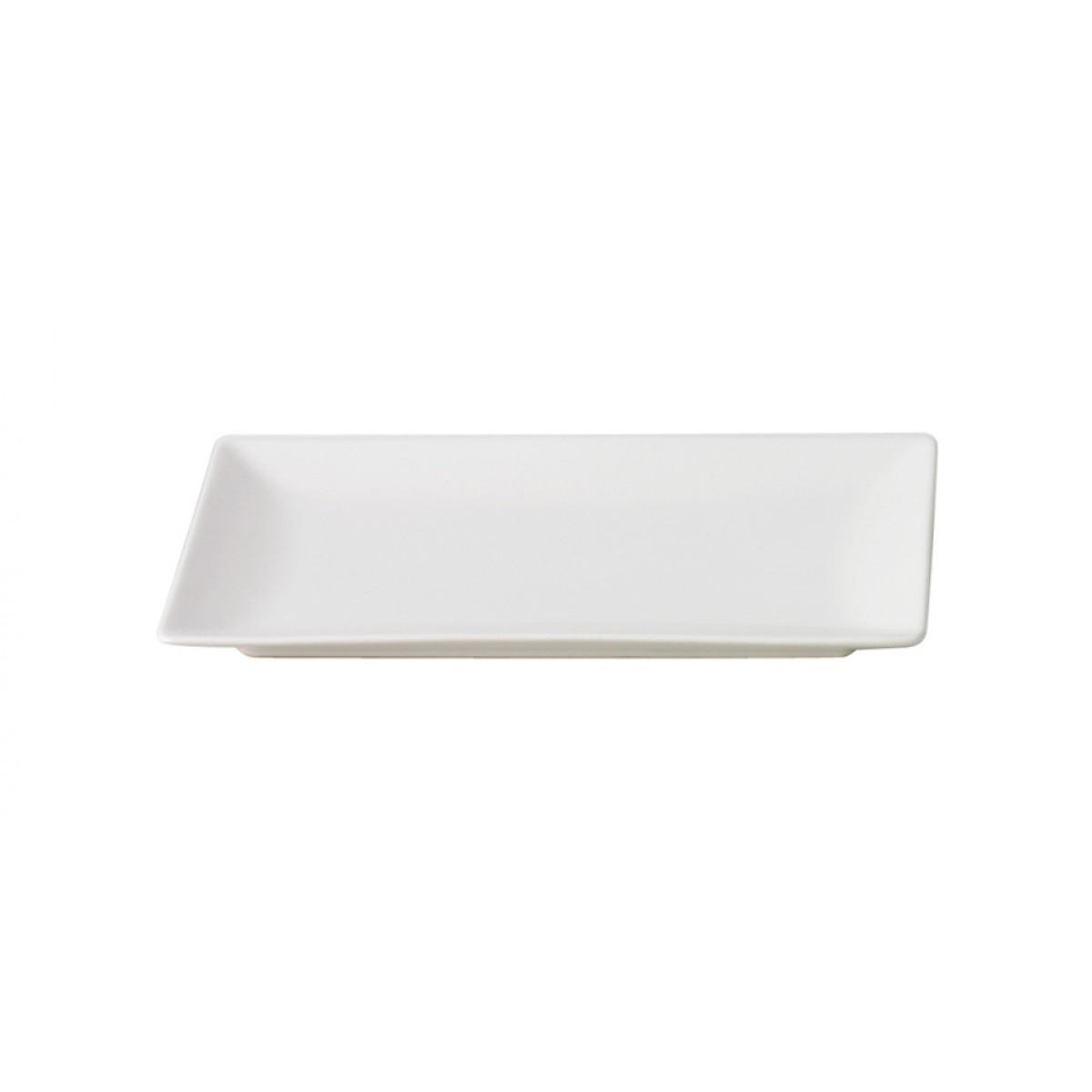 AIDA Quadro tallerken mat hvid 30 x 20 cm