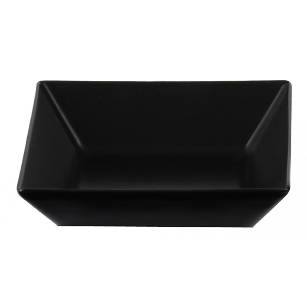 AIDA Quadro skål mat sort 17,5 x 17,5 cm