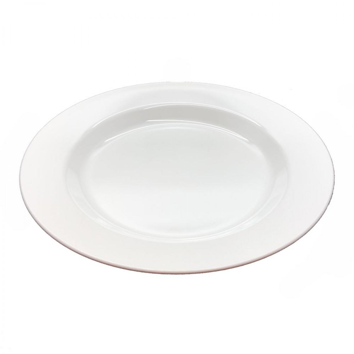 PLAST1 Melamin dyb tallerken 25 cm hvid