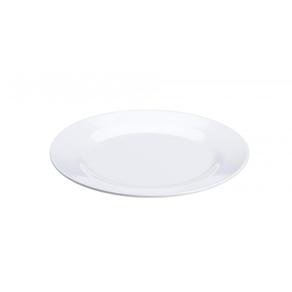 PLAST1 Melamin tallerken 20 cm hvid