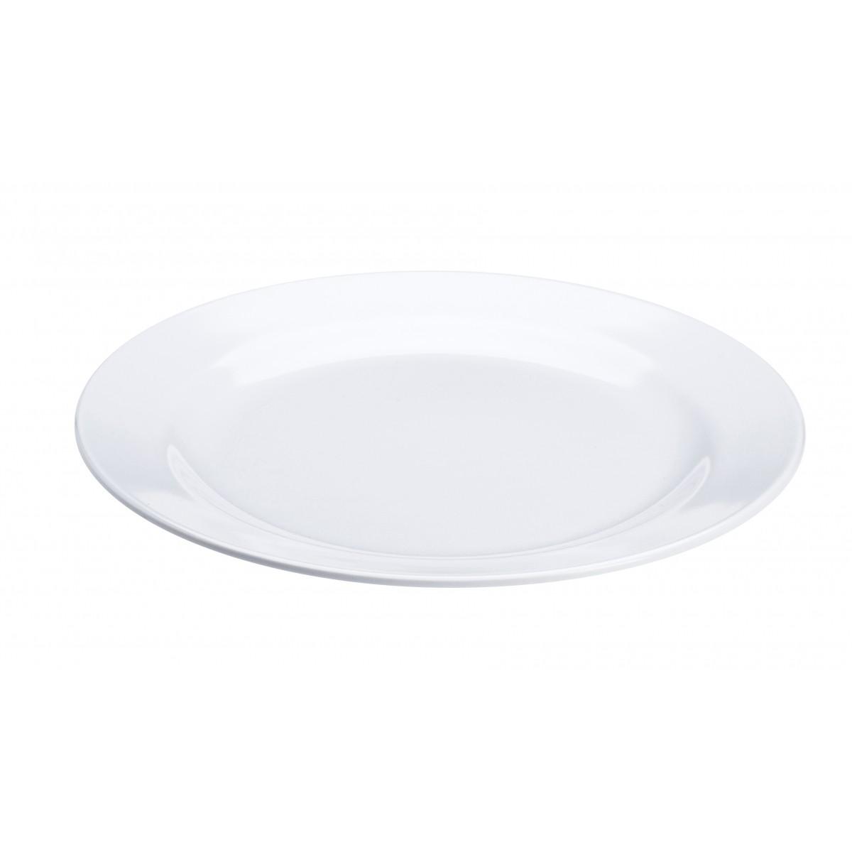 PLAST1 Melamin tallerken 25 cm hvid