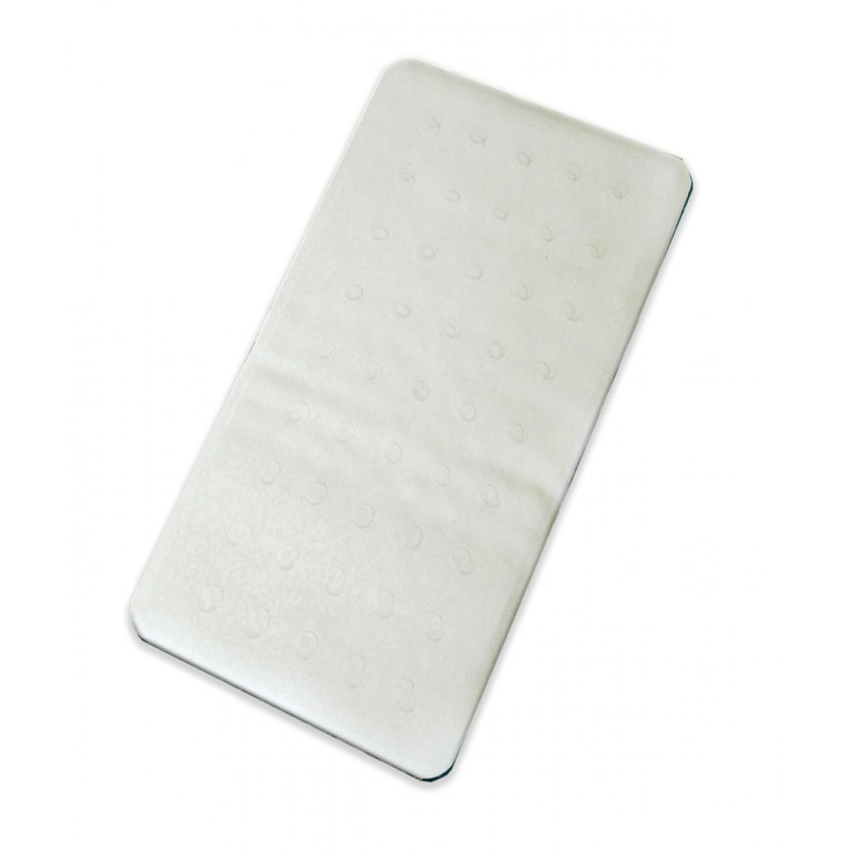 Skridsikkermåtte t/ badekar hvid