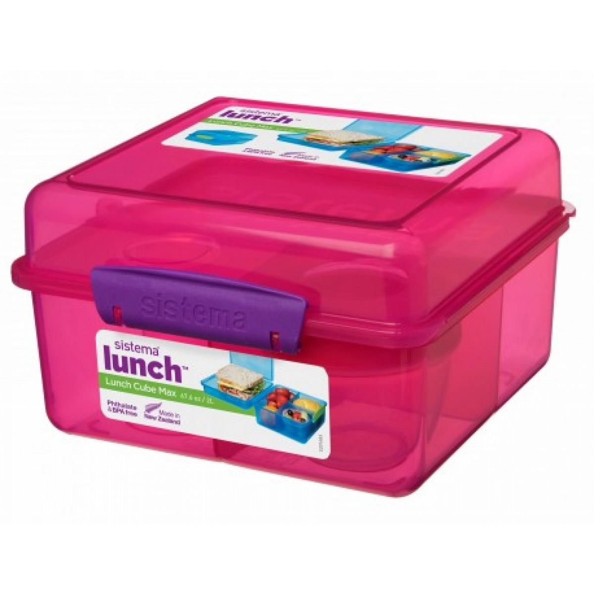 SISTEMA Madkasse cube max lyserød 2 ltr.