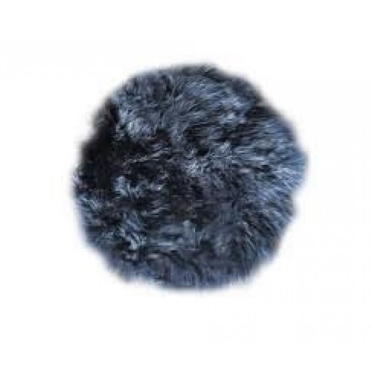 DACORE Sædehynde lammeskind mørkegrå rund ø 37 cm