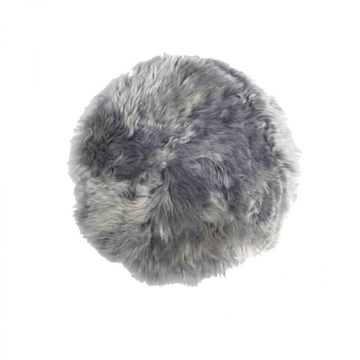 DACORE Sædehynde lammeskind lys grå rund ø 37 cm