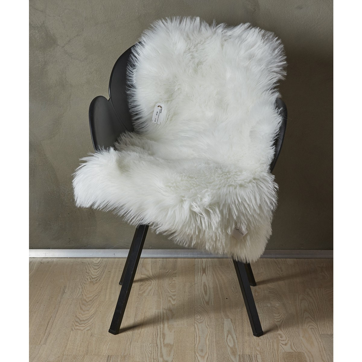 Imiteret lammeskind hvid 60 x 90 cm