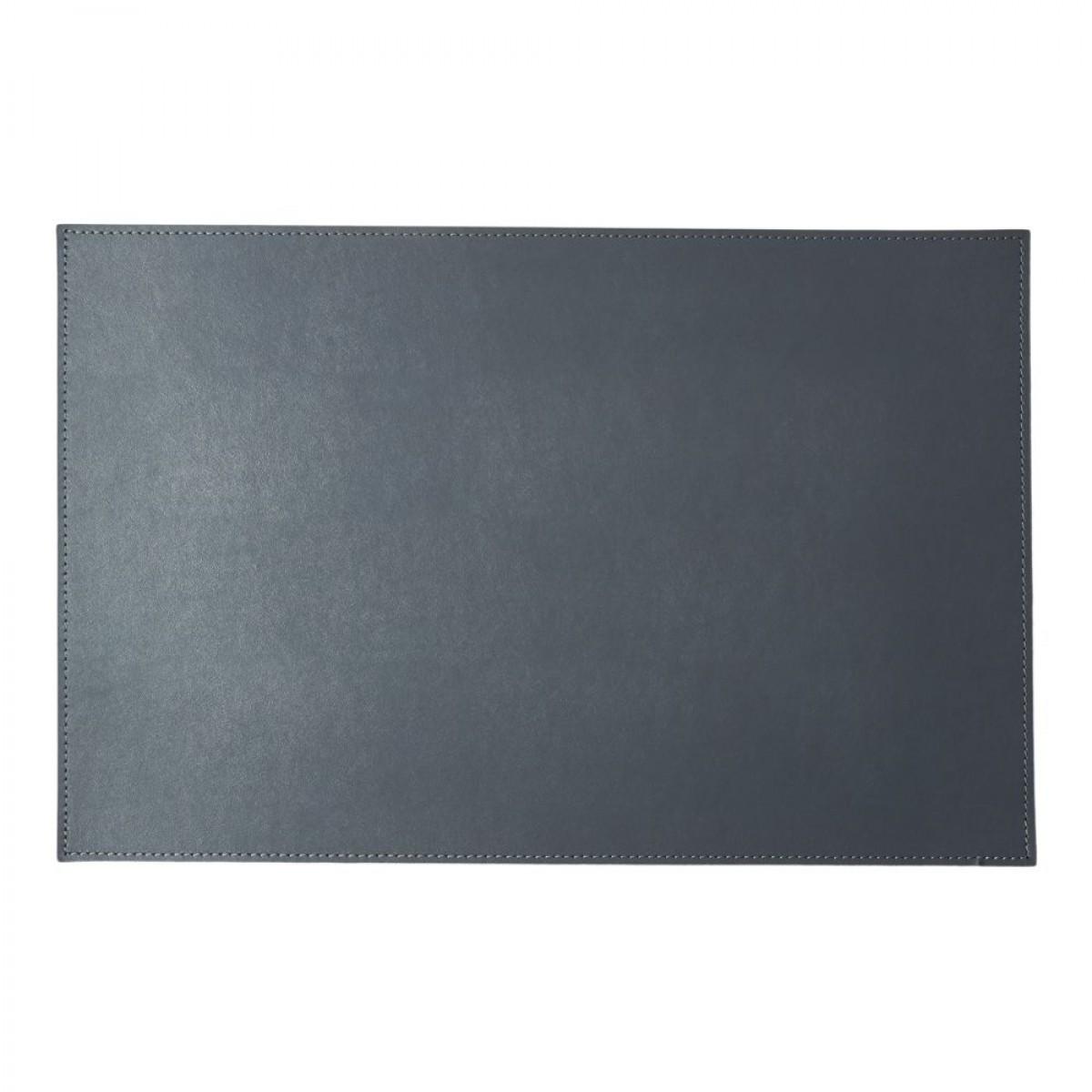 DACORE Dækkeserviet genbrugslæder firkantet grå